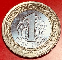 TURCHIA - 2009 - Moneta - Lira - 1 - Turchia