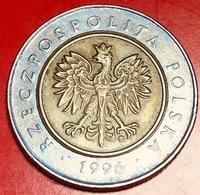 POLONIA - 1996 - Moneta - Aquila - Zloty - 5 - Pologne