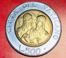 VATICANO - 1988 - Moneta - Giovanni Paolo II - Gesù E Una Colomba - Lire - 500 - Vaticano