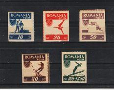 1946 - Office Des Sports Populaires Mi 1000B / 1004 B  NON DENTELE MNH - 1918-1948 Ferdinand, Carol II. & Mihai I.