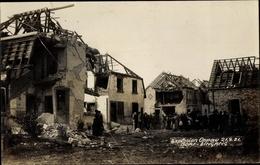Photo Cp Oppau Ludwigshafen Am Rhein Rheinland Pfalz, Explosion 1921, Dorf Eingang, Zerstörte Häuser - Postcards