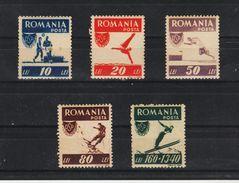 1946 - Office Des Sports Populaires Mi 1000A / 1004 A   MNH - 1918-1948 Ferdinand, Carol II. & Mihai I.