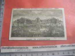 1 Carte LITHO 1880  Cinquantenaire Indépendance Belgique  Palais De L'exposition, Gouweloos Jubelpark 11x7cm Bruxelles - Architecture