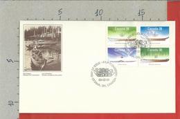CANADA - FDC - 1989 - Small Craft Of Canada - Native Canoes - Primi Giorni (FDC)