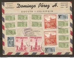 MILITARIA COLOMBIE CUCUTA COLOMBIA - DOMINGO PEREZ - POSTE AUX ARMÉES 10 OCTOBRE 1954 - CACHET INDICATION DU N° DE BPM - Colombia