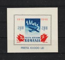 1946 - Journee Du Travail / 1 MAI  Mi Bl 32 MNH - 1918-1948 Ferdinand, Carol II. & Mihai I.