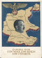 Germany Reich Postkarte Postal Stationery Graz 18-4-1939 (13-3-1938 Ein Volk Ein Reich Ein Führer) - Germany
