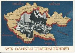 Germany Reich Postkarte Postal Stationery Special Postmark München 1-5-1939 (Wir Danken Unserm Führer) - Allemagne