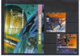 UPU561 UNO WIEN 2007  MICHL NR. 518/19 + BLOCK 21 WELTRAUMFAHRT  ** Postfrisch - Wien - Internationales Zentrum