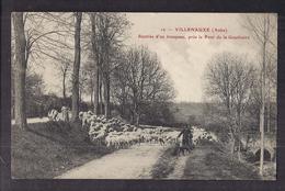 CPA 10 - VILLENAUXE - Rentrée D'un Troupeau Près Le Pont De La Gouthuire - TB PLAN Moutons Elevage - France