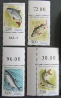 FRANCE - 1990 - YT2663** à 2666** - Nature De France - Poissons D'eau Douce - Frankreich