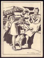 EMPREGADO LOJA Vendedor Balcão. Postal Ilustrado De STUART CARVALHAIS Edição Do Jornal DIARIO POPULAR - Lisboa