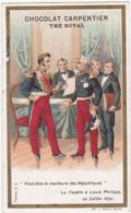 Chromo - Chocolat Carpentier Thé Royal - Vous êtes La Meilleur Des Républiques, La Fayette à Louis Philippe - Chocolat