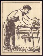 Trabalhador CARPINTEIRO / MARCENEIRO. Postal Ilustrado De STUART CARVALHAIS Edição Do Jornal DIARIO POPULAR - Lisboa
