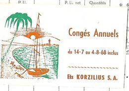 Facture Avec Vignette  Congés 1968 / 68 MULHOUSE / KORZILUIS / Céramique Et Cristal - Vignetten (Erinnophilie)