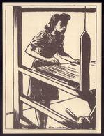 Profissões FIADEIRA No Tear. Postal Ilustrado De STUART CARVALHAIS Edição Do Jornal DIARIO POPULAR - Lisboa
