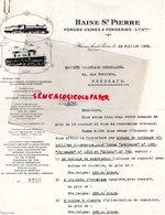BELGIQUE- HAINE SAINT PIERRE-HACHESPE- LETTRE SOCIETE DES FORGES USINES & FONDERIES-FONDERIE-1938 - Old Professions