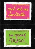 48- Autoadhésifs, Messages N°204 Et 205 , N++ - Luchtpost