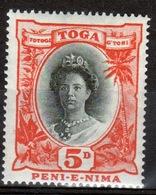 Tonga 1920 Single 5d Stamp From The Definitive Set. - Tonga (...-1970)