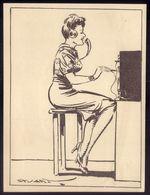 Profissões TELEFONISTA PBX. Postal Ilustrado De STUART CARVALHAIS Edição Do Jornal DIARIO POPULAR - Lisboa
