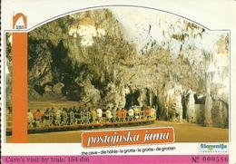 Postojnska Jama (Slovenia, Ex Jugoslavia) Grotte Di Postumia, Jamski Vlak, Trenino, The Train - Slovenia
