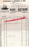 85- LES SABLES D' OLONNE- RARE FACTURE ROBIN BERTHOME-EXPEDITIONS POISSONS MER-HOMARDS LANGOUSTE-1931 - Old Professions