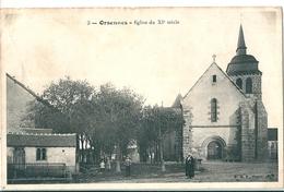 ORSENNES  ( 36 )   La Place Et Son Eglise Du XIè Siecle .  ( Petits Défauts ) - Altri Comuni