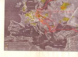 Kaart Carte Map - Verdeeld Europa - IJzeren Gordijn - 1951 - Cartes Géographiques