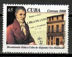 Cuba 2000 / Naturist Alexander Von Humboldt MNH Alejandro Humboldt Naturista / Cu11334  C5-25 - Cuba