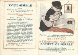 CALENDRIER ANNEE 1918 - Société Générale,emprunt National,carte Illustrée Par Georges Redon - Calendriers