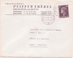Schöne BEDARFSPOST / Geschäftspost   ESCH-sur-ALZETTE / Lux.  - Fa. Pfeiffer Freres - Gelaufen 1955 - Luxembourg