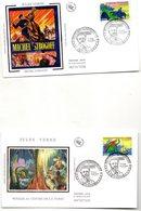 Lot De  5 Enveloppes 1ER JOUR Theme  ECRIVAIN  JULES VERNE   TAMPON ANNEE 2005 NANTES - Scrittori