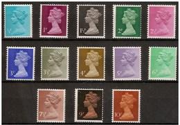 Timbres Neufs** De Grande Bretagne, N°605-17 Yt , 1971, Série Courante, Reine Queen - Neufs