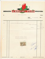 Factuur Dd. 31-12-1959 : Drukkerij O.Bracke & Zoon, Zele  → Rode Kruis Zele (ref. 6) - 1950 - ...