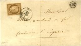 Càd T 15 TOULOUSE (30) / N° 1 Bistre Brun Sur Lettre Locale. 1852. - TB / SUP. - R. - 1849-1850 Ceres