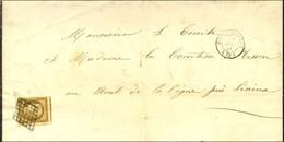 Grille / N° 1 Bistre Brun Très Grandes Marges Càd T 15 COULOMMIERS (73) Sur Imprimé Pour Crèvecoeur En Auge. Au Verso, C - 1849-1850 Ceres