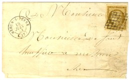 Grille / N° 1 Càd T 15 MEHUN-S-YEVRE 17 Sur Lettre Locale Sans Texte. 1851. - TB. - 1849-1850 Ceres