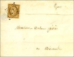 PC 2136 / N° 1 Càd T 15 MONTREJEAU (30) Sur Imprimé Incomplet Pour Mirande. 1852. - TB. - 1849-1850 Ceres