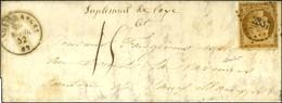 PC 2837 / N° 1 Càd T 15 SAUXILLANGES 62 Sur Lettre Insuffisamment Affranchie Pour Issoire. Au Recto, Mention Manuscrite  - 1849-1850 Ceres