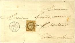 PC 1824 / N° 1 Belles Marges Apposé Sur PP Encadré Càd T 15 MACON (70) Sur Imprimé Complet Pour Matour. 1852. Rare Assoc - 1849-1850 Ceres