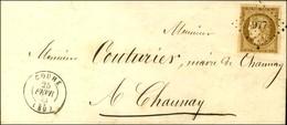PC 977 / N° 1 Bistre Brun Très Belles Marges Càd T 15 COUHE (80) Sur Lettre Locale Pour Chaunay. 1853. - SUP. - R. - 1849-1850 Ceres