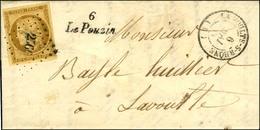 PC 2566 / N° 1 Belles Marges Càd T 15 LA VOULTE-S-RHONE (6) Cursive 6 / Le Pouzin Sur Lettre Locale Avec Texte. 1853. -  - 1849-1850 Ceres
