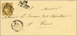 Grille / N° 1 Belles Marges Cursive 83 / Thorigny / S-Oreuse Sur Lettre Locale Pour Sens Dateur B. 1851. - TB. - R. - 1849-1850 Ceres