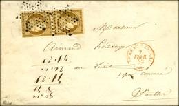 Etoile / N° 1 Paire Càd Rouge BUREAU CENTRAL (60) Sur Imprimé Pour La Sarthe. 1852. - TB. - 1849-1850 Ceres