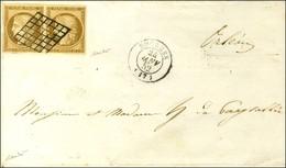 Grille / N° 1 Paire  Bistre Brun Belles Marges Càd T 15 BOURGES (17) Sur Imprimé Complet Pour Orléans. 1852. - SUP. - R. - 1849-1850 Ceres