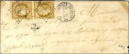 PC 786 / N° 1 Paire Càd T 15 CHATEAUNEUF-DU-FAOU 28 16 MAI 52 Sur Lettre Au Tarif Réduit De Militaire Pour Cherbourg. -  - 1849-1850 Ceres
