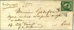Etoile / N° 2 Vert Foncé Sur Lettre Avec Texte Daté De Paris Le 10 Juillet 1852 Adressée Localement. - TB / SUP. - R. - 1849-1850 Ceres
