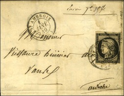 Càd T 15 ST AMBROIX (29) 1 JANV. 49 / N° 3 Sur Lettre Initialement Prévue En Double Port (le Texte Mentionne Des Documen - 1849-1850 Ceres
