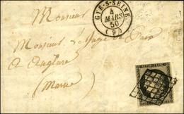 Grille / N° 3 Marge Supérieure Effleurée) Càd T 15 GYE-S-SEINE (9). 1850. - TB / SUP. - 1849-1850 Ceres