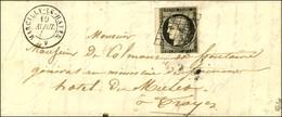 Grille / N° 3 (filet Effleuré) Càd T 15 MARCILLY-LE-HAYER 9. 1849. - TB / SUP. - 1849-1850 Ceres